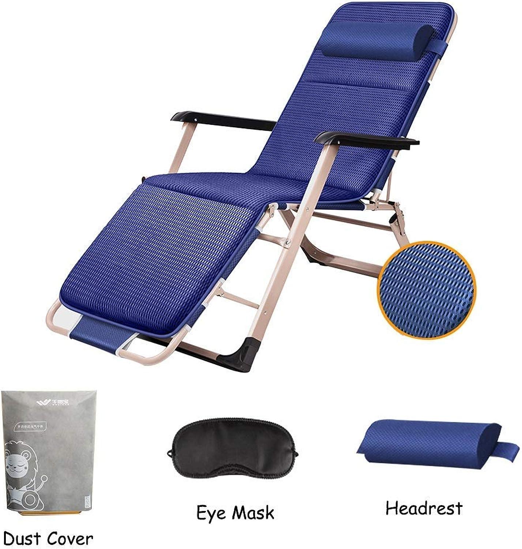 Hxx Schaukelstuhl gepolsterter Schwerelosigkeits-Klappstuhl, Verstellbarer Liegestuhl im Freien für Gartenterrasse, Strandbalkon oder Camping,A