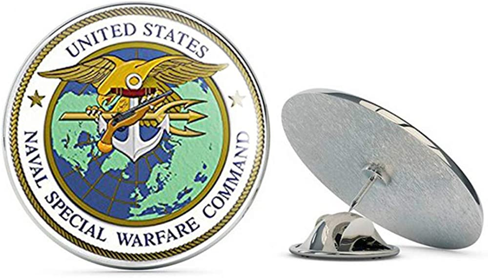 NYC Jewelers Round Naval Special Warfare Command Seal (Navy Military) Metal 0.75