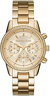 Women's Ritz Stainless Steel Watch With Crystal Topring