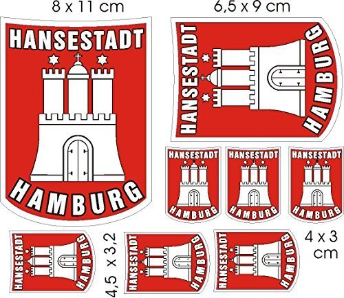 Aufkleber WappenSet Europa Hamburg