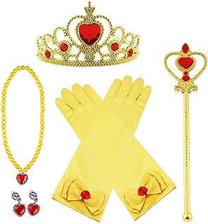 Vicloon Principessa Accessori, Nuovi Costumi da Principessa Set di 8 Pezzi Dono da Tiara/Guanti/Bacchetta Magica/ Anello/o...