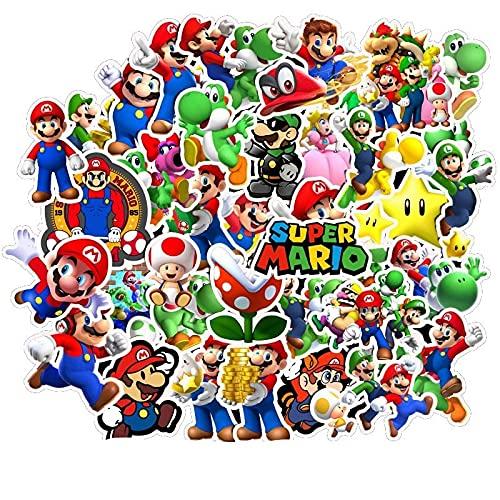 Adesivi anime 200 Pz/lotto Gioco classico Super Mario Mario Cartoon Sticker Laptop Skateboard Guitar Motorcycle Sticker