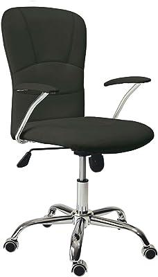 Adec - Silla de oficina giratoria despacho escritorio estudio con brazos, color Negro