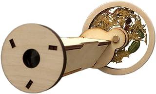 Caleidoscopio de madera lleno de flores, kit de montaje de bricolaje