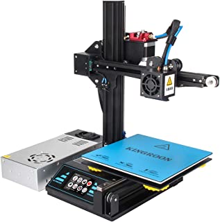 3D Printer, Kingroon DIY Aluminum Resume Printer with Touch Screen Assisted Level Free MicroSD Card Preloaded with Printable 3D Models, Printing Space (180x180x180mm)