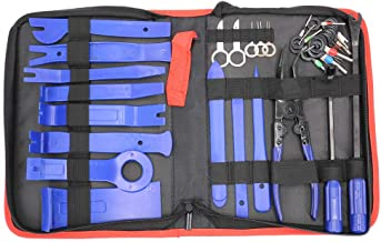 UTSAUTO 37Pcs Trim Removal Tool,Car Panel Door Audio Trim Removal Tool Kit, Auto Clip Pliers Fastener Remover Pry Tool Set with Storage Bag