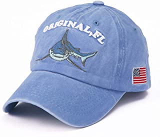 Shark Embroidery Baseball Cap Washed Cotton Men Baseball Cap Fitted Cap Hat For Women Casual Cap