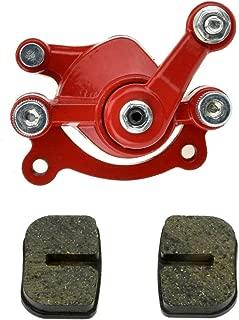 Red Disc Brake Caliper Replaced Pad for 97cc 2.8HP DB30 Baja Doodle Bug Mini Dirt Bike Moto Classic Electric Razor MX500 33cc Motovox MVS10 43cc 47cc 49cc Moto ATV Gas Scooter Kids Dirt Pocket Bike