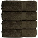 Chakir Turkish Linens Luxury Premium Cotton Long-Stable Turkish Towels (4-Piece, Bath Towel - Cocoa)