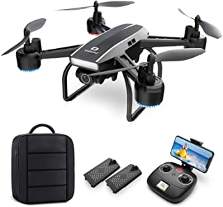 DEERC Drone with Camera for Adults 2K Ultra HD FPV Live Video 120° Wide Angle, Altitude Hold, Headless Mode, Gesture Selfi...