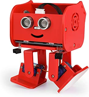 ELEGOO Penguin Bot Biped Robot Kit for Arduino Project with Assembling Tutorial,STEM Kit for Hobbyists, STEM Toys for Kids and Adults, Red Version