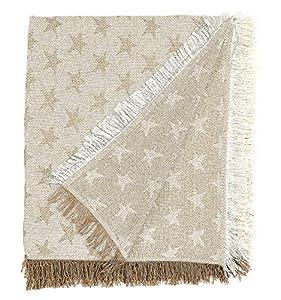 Martina home foulard multiusos- Plaid modelo Estrella - tela 230x260 cm,color crudo beige