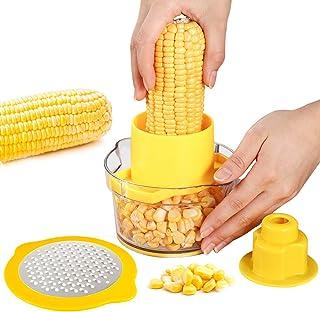 PAMISO Corn Stripper Cutter,4-IN-1 Cob Corn STRIPPER/PEELER/GRATER/BOWL