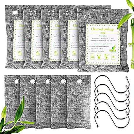 50%OƑƑ 10 Pack Bamboo Charcoal Air Purifying Bags