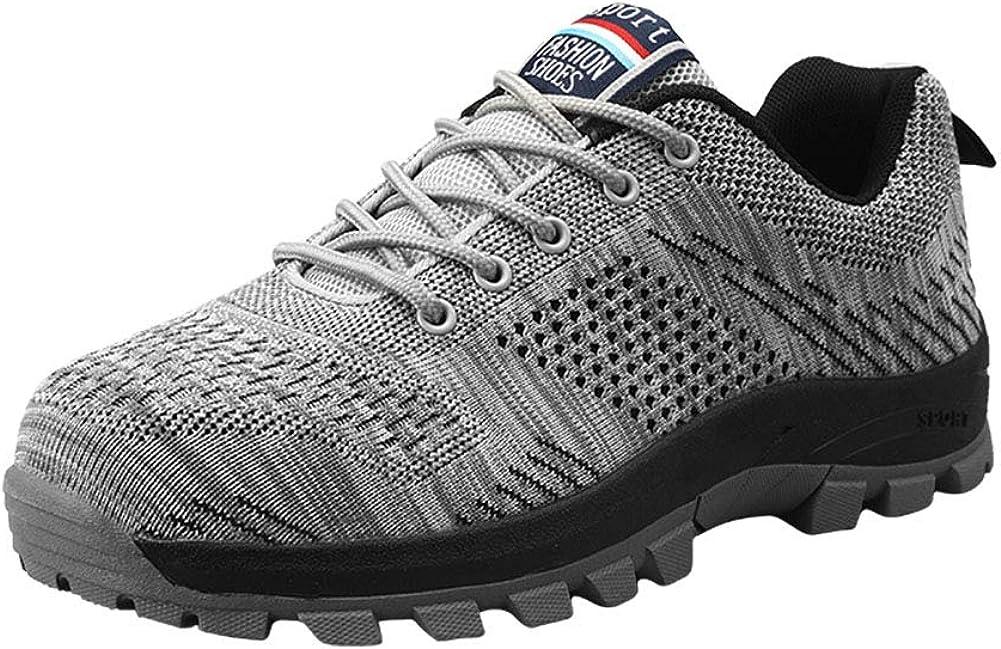 frysen Steel Toe Shoes Men Women - Work Safety Shoes Industrial Construction Lightweight Unisex Shoes EU 39-46 US 6.5-11