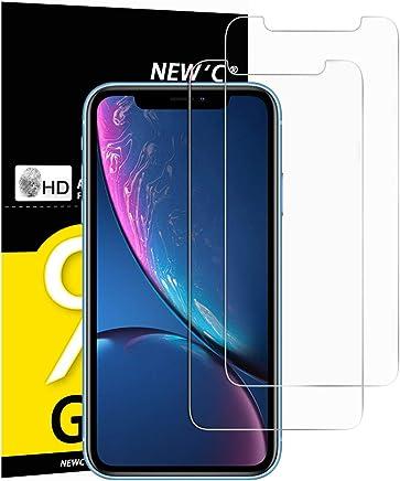 """NEW'C Verre Trempé pour iPhone XR (6.1""""), [Pack de 2] Film Protection écran - Anti Rayures - sans Bulles d'air -Ultra Résistant (0,33mm HD Ultra Transparent) Dureté 9H Glass"""