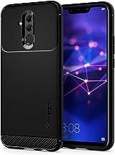 Spigen [Rugged Armor Funda Huawei Mate 20 Lite con Absorción de Choque Flexible y Duradera con diseño de Fibra de Carbono para Huawei Mate 20 Lite (2018) - Negro/Matte Black.