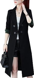 معطف رياضي للسيدات فضفاض مناسب مع طية صدر الصدر مقاس الربيع والخريف