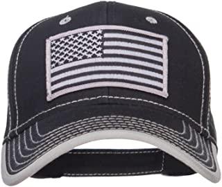 Silver American Flag Patched Superior Cotton Cap