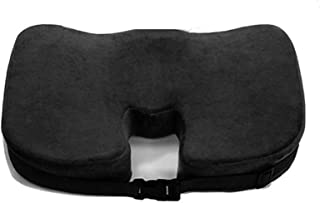 Office Chair Cushion - U-Shaped Gel Memory Foam Cushion, Orthopaedic Sciatic Nerve Pain Relief for Haemorrhoids,Black,With...