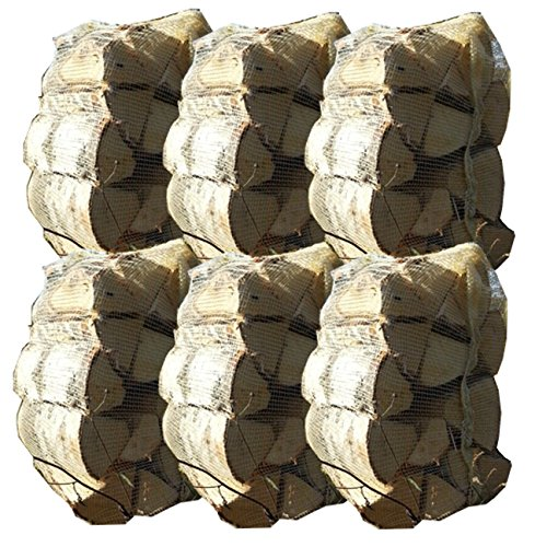 60kg Kiln Dried Silver Birch Hardwood Firewood Logs 25cm Long for Stoves, Fire Pits, Open Fire, Pizza Oven