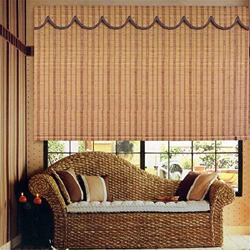 TINE Cortina De Bambú Natural Romana Ventana De Bambú De Madera Persianas De Pantalla Cortina De Bambú De Tracción - Personalizado,30 * 40 cm