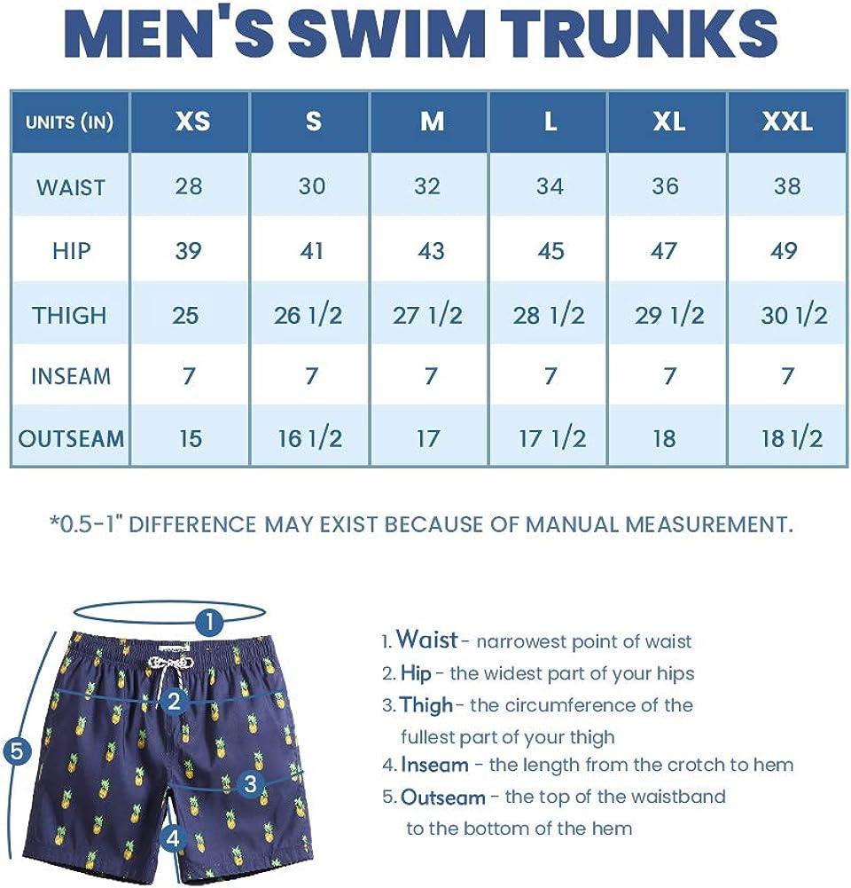maamgic Mens Slim Fit Quick Dry Swim Shorts Swim Trunks Mens Bathing Suits with Mesh Lining