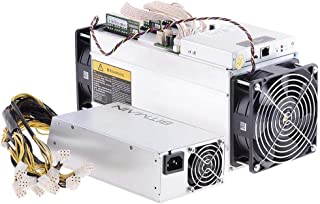 AntMiner Bitmain S9 (Used New Condition) Bitcoin Miner, 0.098 J/GH Power Efficiency, 13.5TH/s with Power Supply and Cord