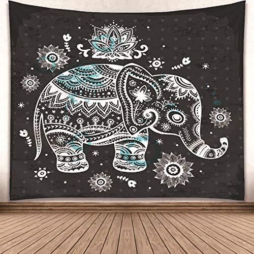 WERT Tapiz de patrón de decoración de habitación de Moda Tapiz con Estampado de Mandala Multicolor Tapiz de Dormitorio de Pared Boho Indio A10 73x95cm