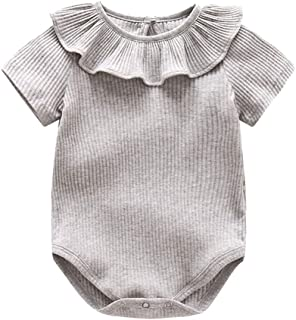 BOZEVON Baby Girl Onesie Bodysuit Baby Romper - Unisex Baby Bodysuits Short Sleeve Cotton Baby Onesies
