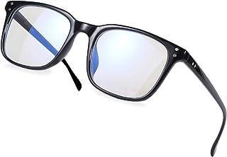 Occffy Blue Light Filter Computer Glasses for UV Blocking Anti Eyestrain Gaming Glasses Anti-Glare Protection for Men Women 5025 (Black)