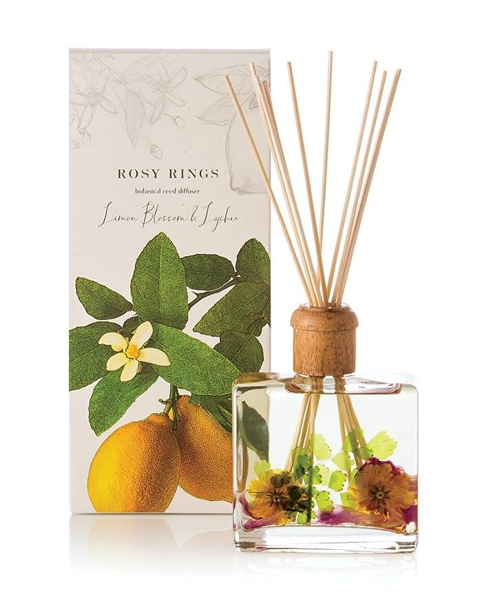 タップ始まり直径ロージーリングス ボタニカルリードディフューザー レモンブロッサム&ライチ ROSY RINGS Signature Collection Botanical Reed Diffuser – Lemon Blossom & Lychee