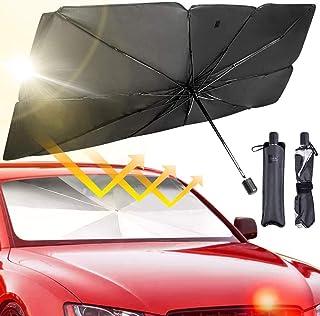 BRISKARII Car Windshield Sun Shade Umbrella - Foldable Car Umbrella Sunshade Cover UV Block Car Front Window (Heat Insulat...