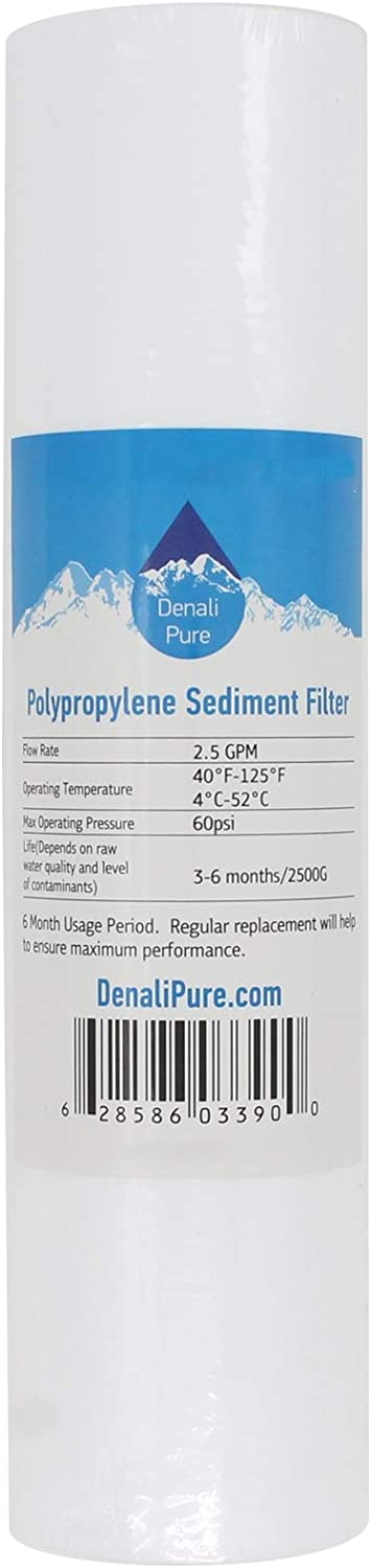 Genuine 10-Pack Replacement for PurePro Sediment FS401P-S Polypropylene Rapid rise