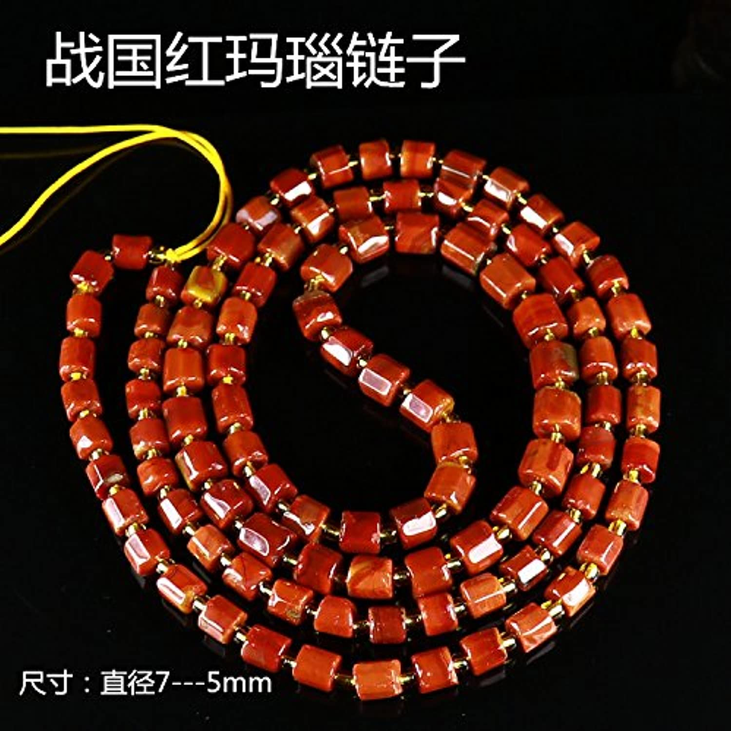 Warring States Onyx Necklace Pendant Chain Sweater Chain Lanyards Lanyard Accessories Necklace Pendant 014