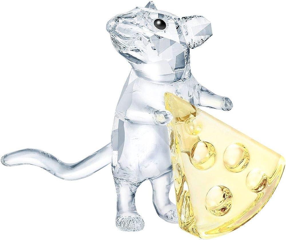Swarovski, topolino con formaggio in cristallo 5464939