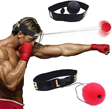 Boxe Reflex Speed Ball Avec Mma Bandeau Muay Thai Combat Balle Drop Expedition Exercice Amelioration Des Reactions Vitesse De Perforation Rouge Amazon Fr Sports Et Loisirs