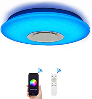MUMENG LED Ceiling Light Dimmable Color Changing 36W Starlight with Remote Control (Compatible with Amazon Alexa)