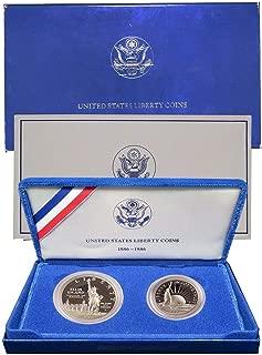 1986 S United States Liberty Silver Dollar & Half Dollar Proof