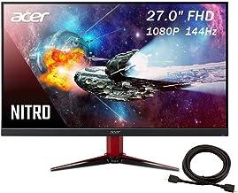 2020 Premium Acer Nitro Pbmiipx 27 Inch 144Hz FHD (1920 x 1080) IPS VESA Compatible Monitor with AMD Radeon FREESYNC Techn...