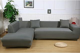 Ele ELEOPTION Sofa Uberwurfe Elastische Stretch Bezug 2er Set 3 Sitzer Fur L Form