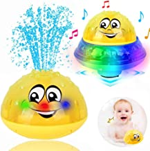 ZHENDUO Bath Toys, 2 in 1 Induction Spray Water Toy & Space UFO Car Toys with LED..