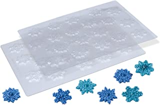 Snowflake Chocolate Candy Molds, Set of 2 - Cupcake & Cake Toppers, Party Decorations, Frozen Treats