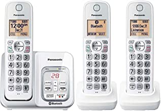 $89 » Panasonic KX-TG833SK1 Link2Cell Voice Assist Answering System Talking Caller ID 3 Handset Cordless Phone, Answering Machin...