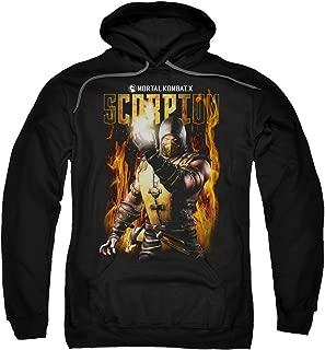 Mortal Kombat Scorpion Adult Pull Over Hoodie Black