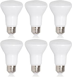 Maxxima LED BR20 50 Watt Equivalent Dimmable 7 Watt LED Warm White R20 600 Lumens, 3000K (Pack of 6)