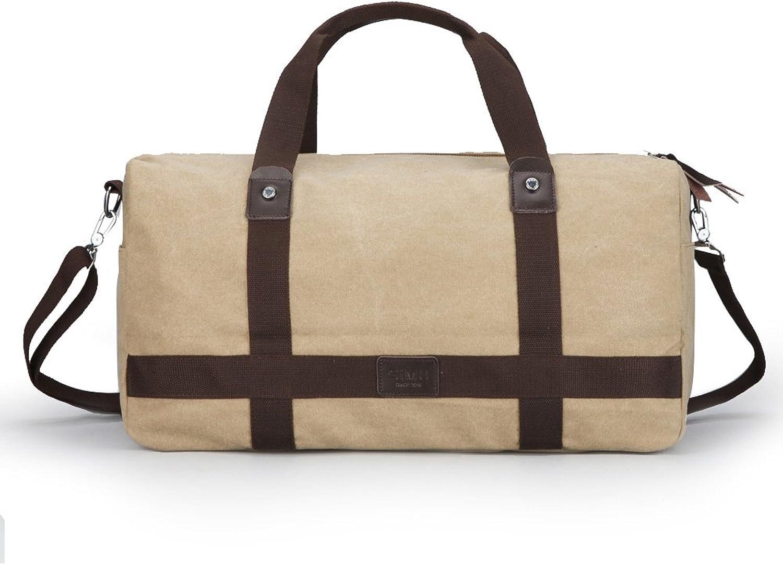 ac1c51b88921 SIMU Canvas Travel Duffel Large Capacity Business Travel Bag, Single ...