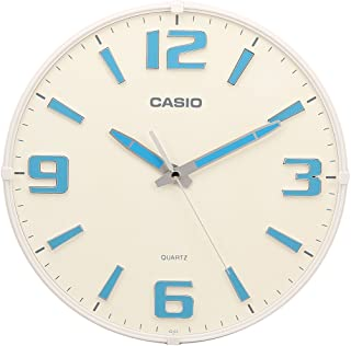 Casio Round Resin Analog Wall Clock (30.8 cmx30.8 cmx4.9 cm, White, WCL54)