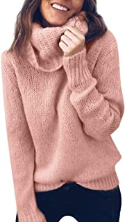 womens tops,Kulywon Women Solid Long Sleeve Turtleneck Knitted Sweater Jumper Pullover Top Blouse