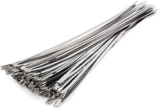 Bridas de cable de acero inoxidable de 50 x 500 mm, brida de metal para sujetar tubo de escape